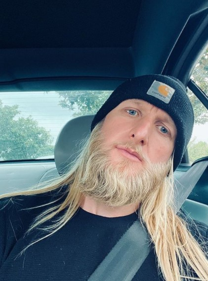 Long Straight Blonde Viking Hairstyle with Beard