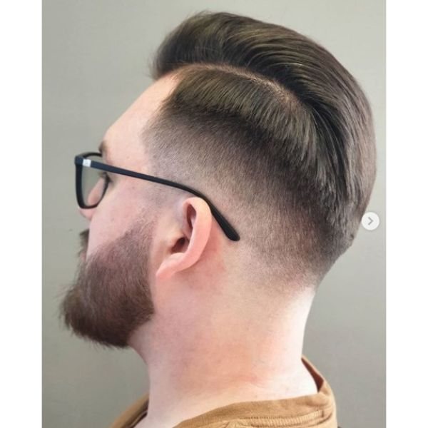 Low Fade with Side-Swept Part