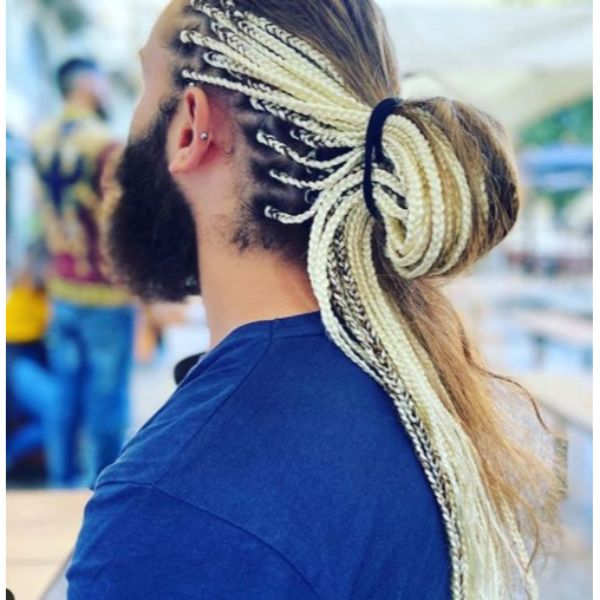 Massive Back Knot with Faux Braids