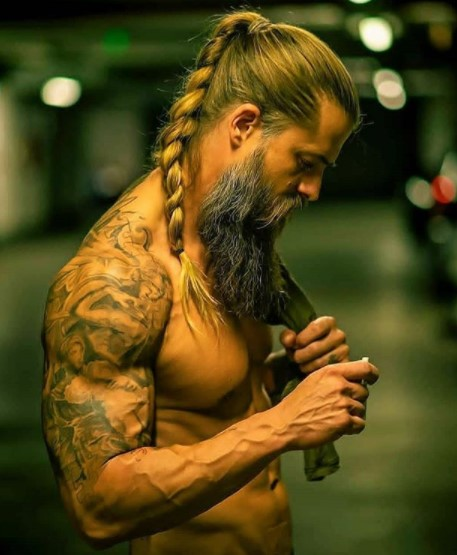 Massive Beard with Back Ponytail