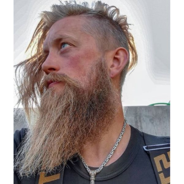 Messy Side-swept Viking Hairstyles
