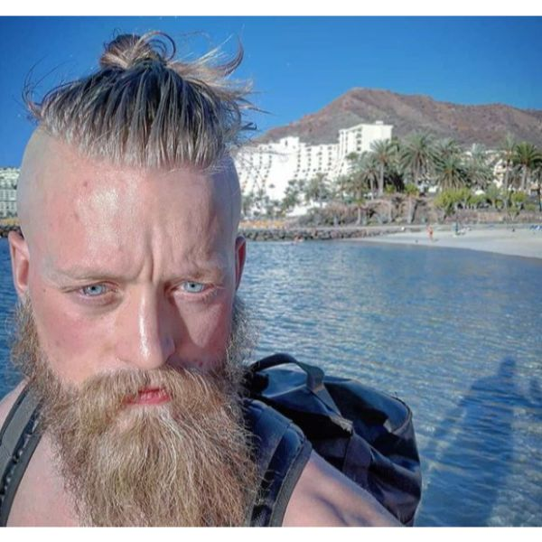 Messy Top Knot Viking Hairstyles