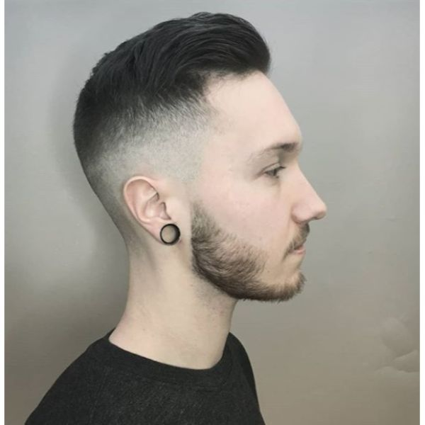 Mid Fade with Pompadour Top