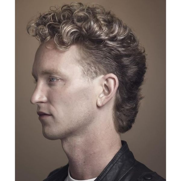Modern Mullet For Curly Thick Hair