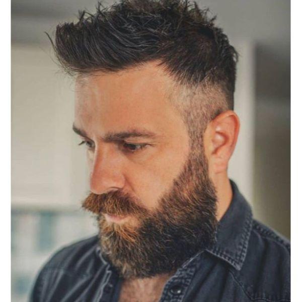 Modern Short Swept Back Hairstyle