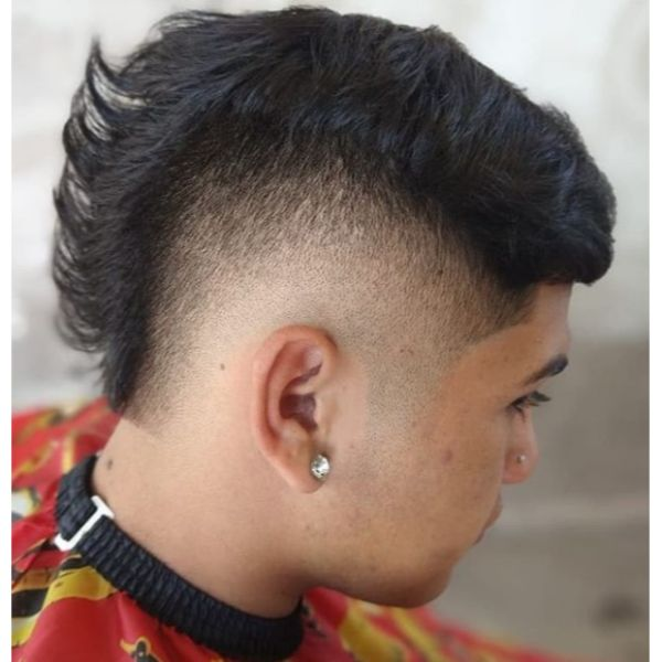 Mullet Faux Hawk Hairstyles For Men With Thick Hair
