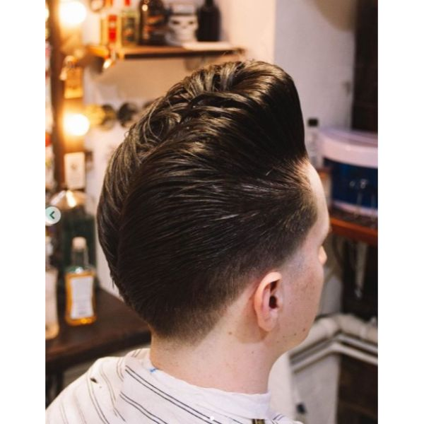 Pompadour With Jelly Rolls