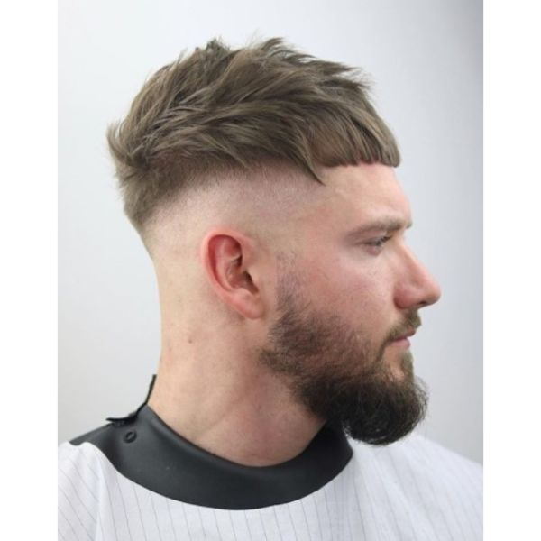 Razor Cut with Front Forward Combed Strands