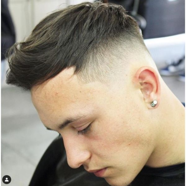 Sharp Fade with Long Strands