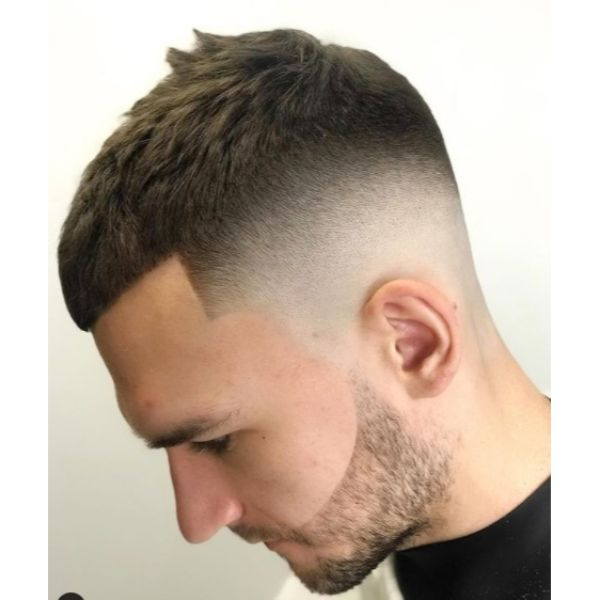 Sharp Fade with Textured Top