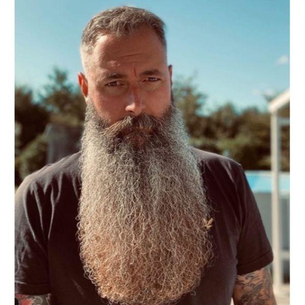 Short Haircut with Extra Beard