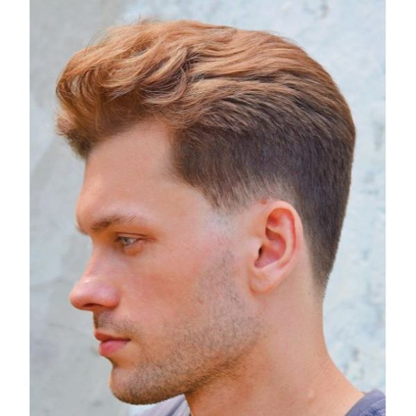 Simple Flow Haircut with Tapered Sides