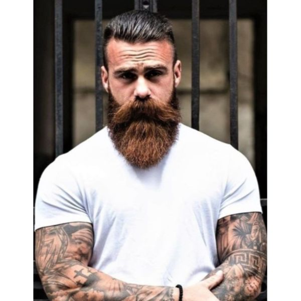 Slick Back With Faded Sides Viking Hairstyles
