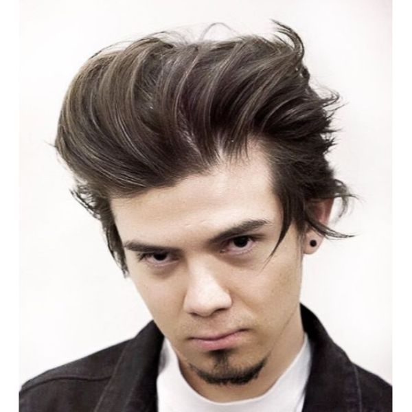 Spiky Flow Hairstyle Low Maintenance Haircuts For Men
