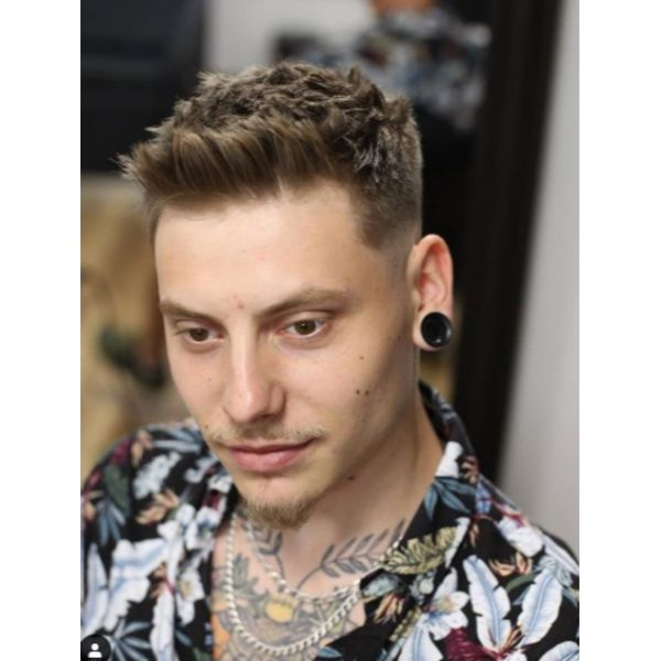 Spiky Top Undercut Hairstyle For Men With Thick Hair