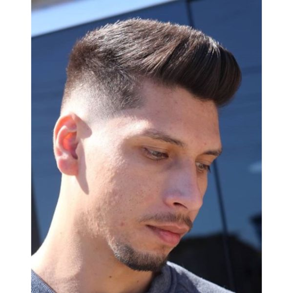 Spiky Top with Low Faded Sides