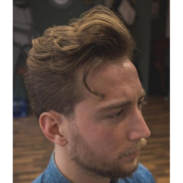 Taper Pompadour with Front Quiff