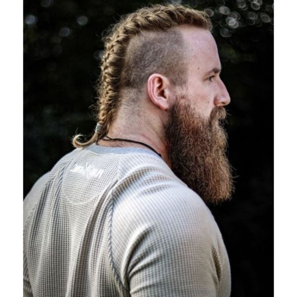 Thick Beard With Thick Braids
