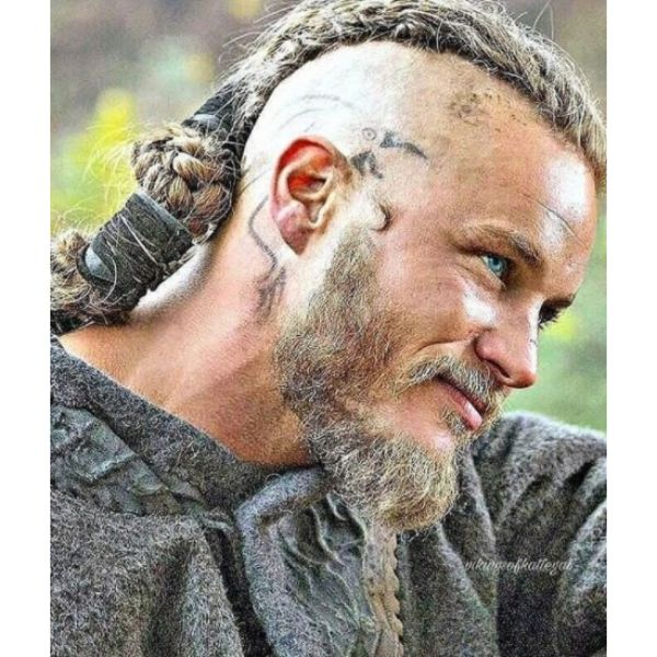 Travis Fimmel Viking Style Long Braid