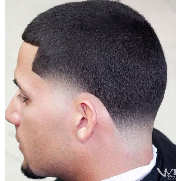 Ultra Sharp Fade With Blunt Bangs