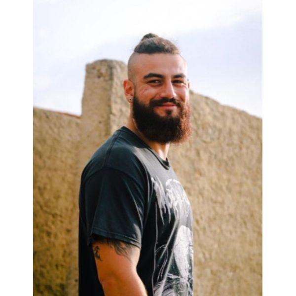 Viking Beard with Top Knot