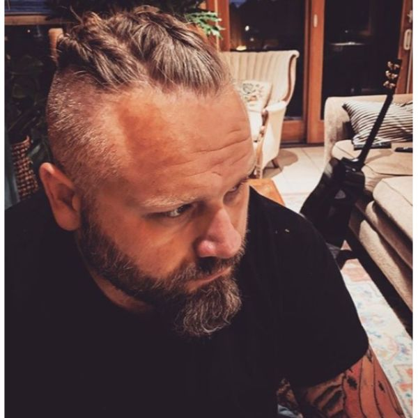 Viking Braids with Shaved Sides