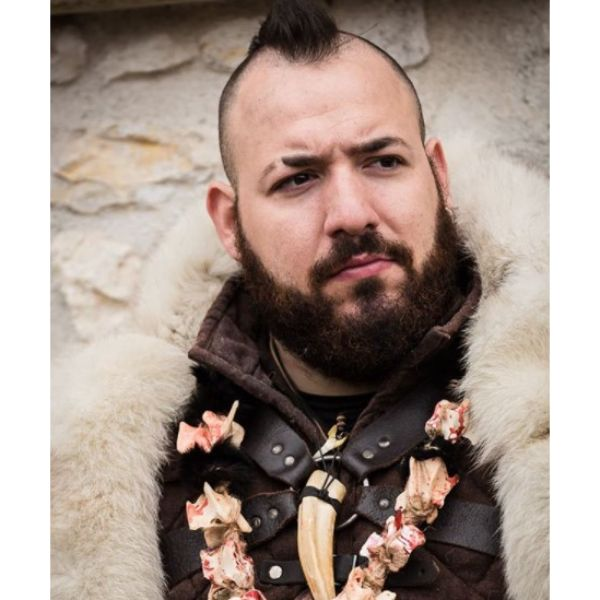 Viking Style Psycho Quiff Hairstyle
