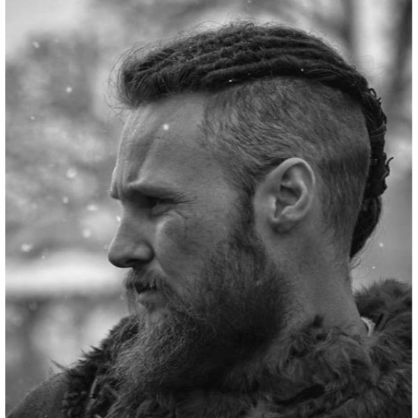 Viking Top Braids with Shaved Sides