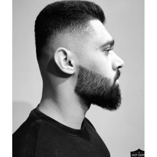 Low Fade Spiky Haircut For Straight Hair
