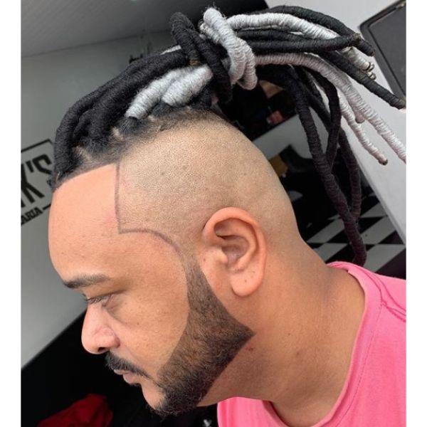 Black And White Dreadlocks Hairstyle For Men dreadlock styles for men