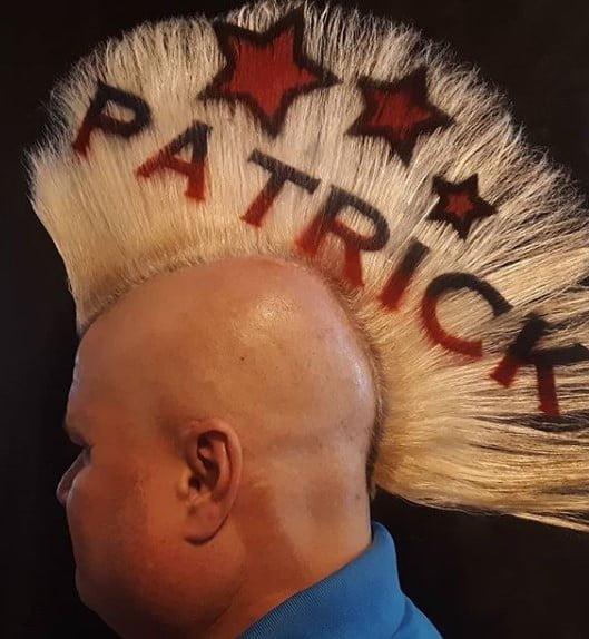 Blonde Mohawk With St Patrick Inscription