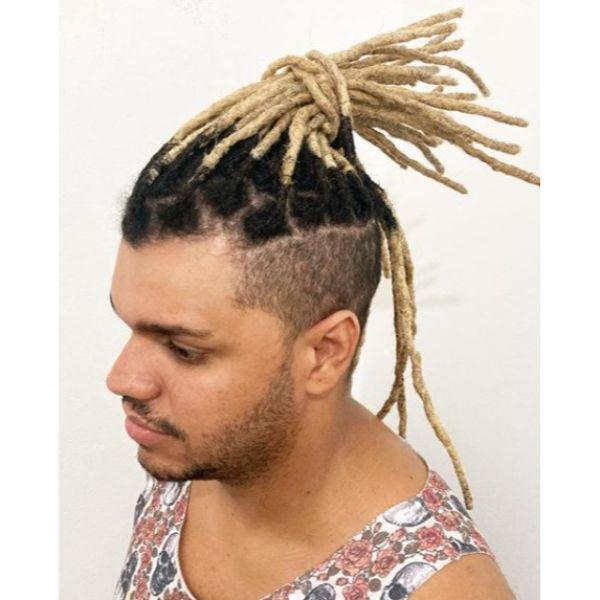 Blonde Rasta Dreadlocks with Dark Roots dreadlock styles for men