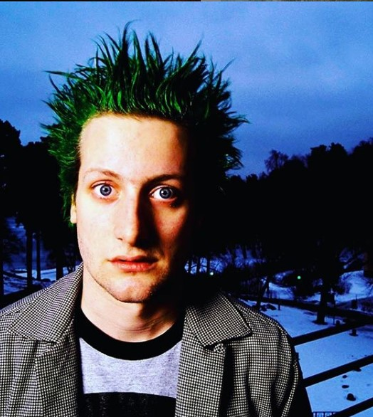Bright Green Spiky Punk Hairstyle