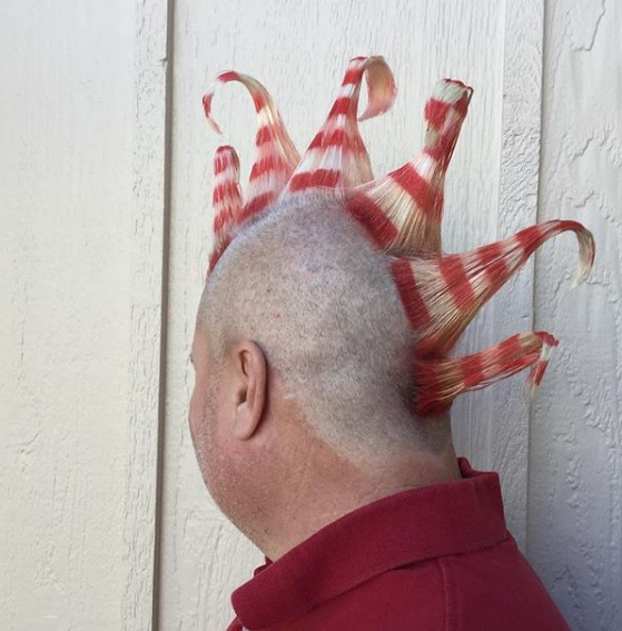 Candy Cane Mohawk Hairstyle