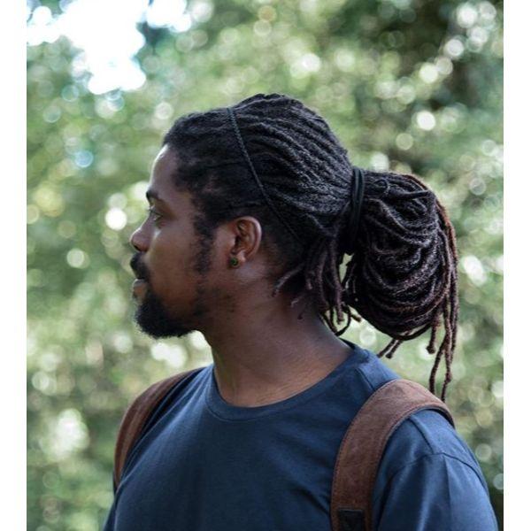 Dreadlocks Man Bun Hairstyle