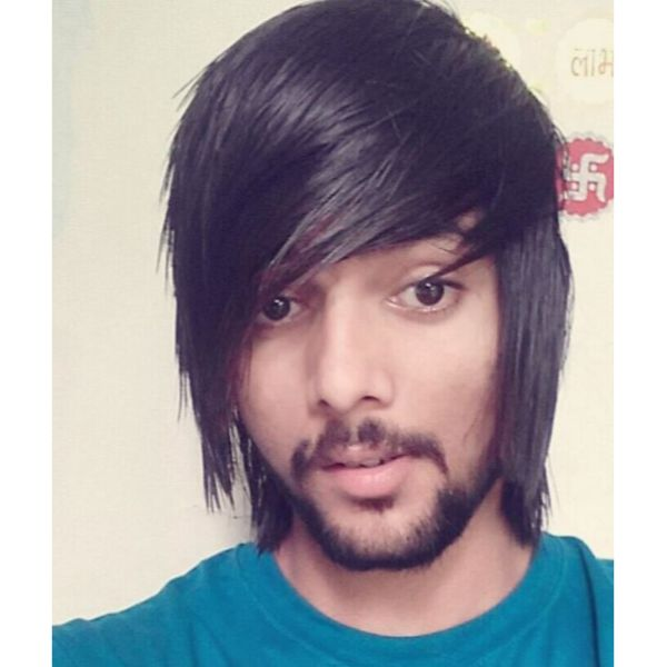 Emo Hairstyles For Men with Straight Hair