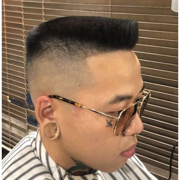 Flattop With High Fade Hairstyles For Men With Straight Hair