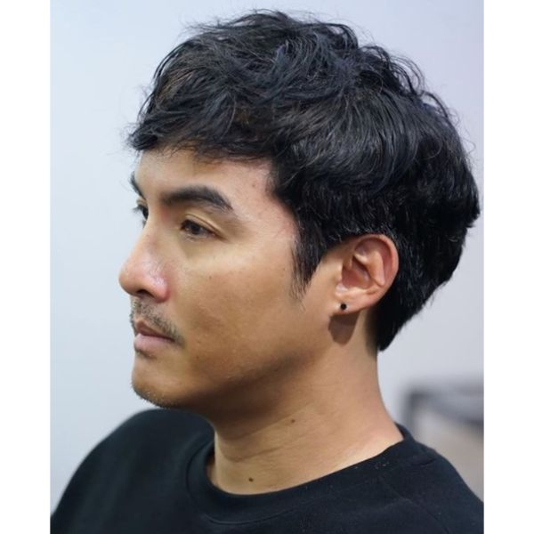 Flowy Hairstyle with Sideburns