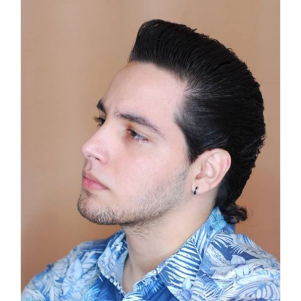 Gangsta Mullet Hairstyles For Men With Straight Hair