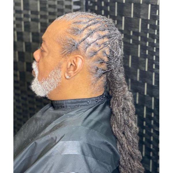 Grombre Thin dreadlock styles for men