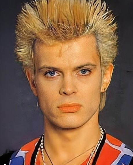 High Blonde Spiky Hairstyle with Dark Strands punk hairstyles for guys