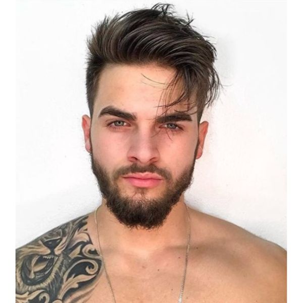 High Fade with Messy Textured Top Hairstyles For Men