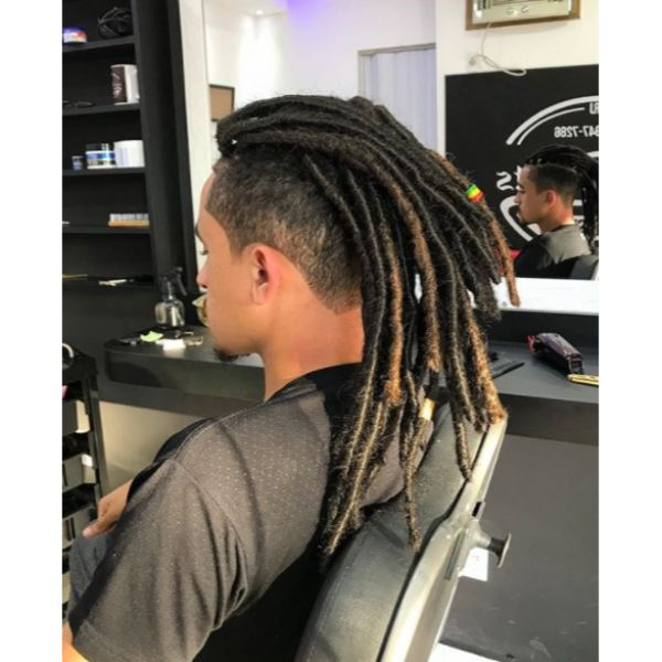 High Fade with Rasta dreadlock styles for men