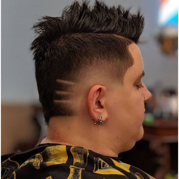 High Fade with Side Fade with Mohawk Hairstyle