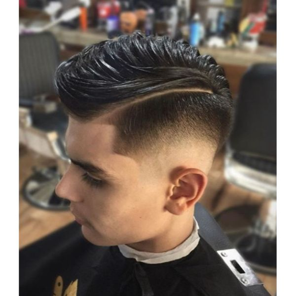 High Fade with Side Part High Fade with Side Part
