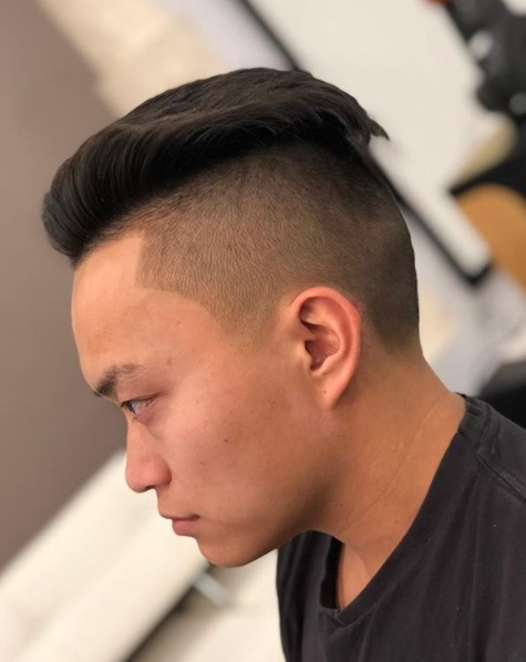 High Fade with Slick-back Top