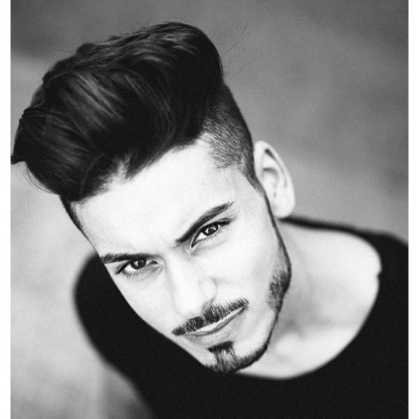 High Fade with Spiky Top Hairstyle For Men With Straight Hair