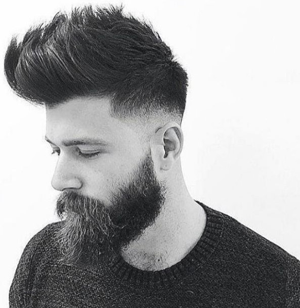 High Fade with Spiky Top Hairstyle