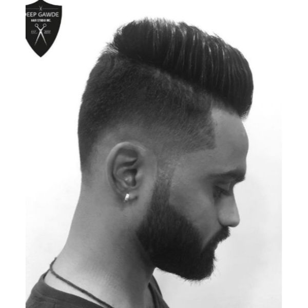 High Fade with Spiky Top