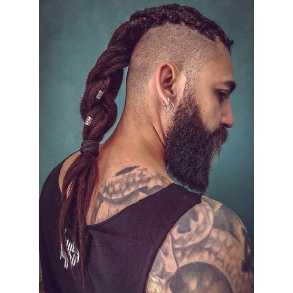 High Fade with Twisted Dreadlocks Braid dreadlock styles for men